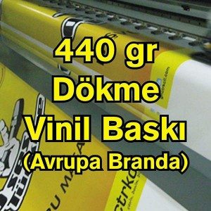 Dökme Vinil Branda Afiş Dijital Baskı ( 400/440 Gr )
