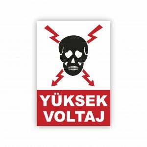 İş Güvenliği Levhaları - Yüksek Voltaj Levhası ( 35x25 )                                                         iş güvenliği levhası,                                 uyarı levhası,                                 isg levhası,                                 ikaz levhası,                                 tabela,                                 levha,                                 dekota sıvama,                                 folyo sıvama,                                 baskılı levha,                                 forex sıvama,                                 foreks baskı,                                dekota baskı