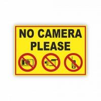İş Güvenliği Levhaları - No Camera Please Levhası ( 35x25 )