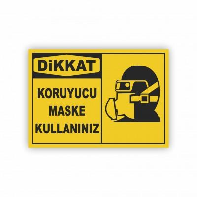 İş Güvenliği Levhaları - Koruyucu Maske Kullanınız Levhası ( 50x70 )                                                         iş güvenliği levhası,                                 uyarı levhası,                                 isg levhası,                                 ikaz levhası,                                 tabela,                                 levha,                                 dekota sıvama,                                 folyo sıvama,                                 baskılı levha,                                 forex sıvama,                                 foreks baskı,                                dekota baskı
