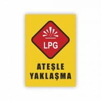 İş Güvenliği Levhaları - Ateşle Yaklaşma Levhası ( 35x25 )