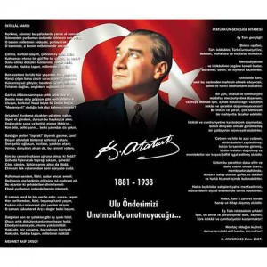 Atatürk Köşesi ( İstiklal Marşı, Gençliğe Hitabe )                                                         Atatürk,                                 istiklal,                                 marş,                                 Gençliğe,                                 hitabe,                                 dekota,                                 folyo,                                Atatürk köşesi