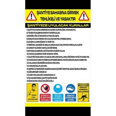 Şantiye Uyarı Levhası Model 1 (50x35)                                                         şantiye,                                 iş güvenliği,                                 levha,                                 uyarı,                                 ikaz,                                inşaat
