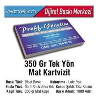 Tek Yön Kartvizit (350 gr. Mat Kuşe - 1000 Adet )