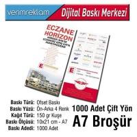 Çift Yön Broşür (10x21 cm - A7 - 150 gr Kuşe - 1000 Adet )