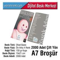 Çift Yön Broşür (10x21 cm - A7 - 150 gr Kuşe - 2000 Adet )