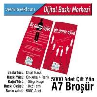 Çift Yön Broşür (10x21 cm - A7 - 150 gr Kuşe - 5000 Adet )