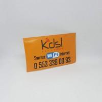 Yapışkanlı Kartvizit 5.2 × 8.4 cm (1000 Adet)
