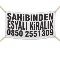 Sahibinden Eşyalı Kiralık Afişi ( 300x200 cm )